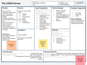 Lean Canvas - Day 1